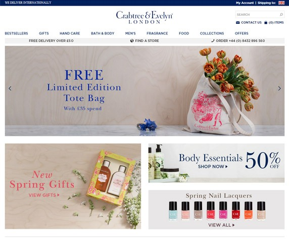 Crabtree & Evelyn Ecommerce Case Study