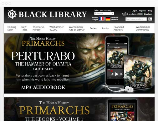 Black Library homepage