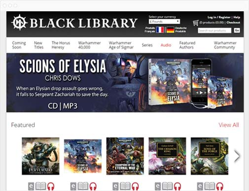 Black Library category page
