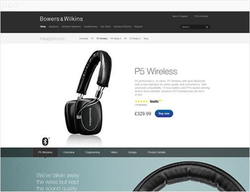 Bowers & Wilkins product page
