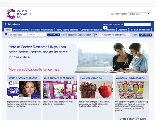 Cancer Research UK homepage