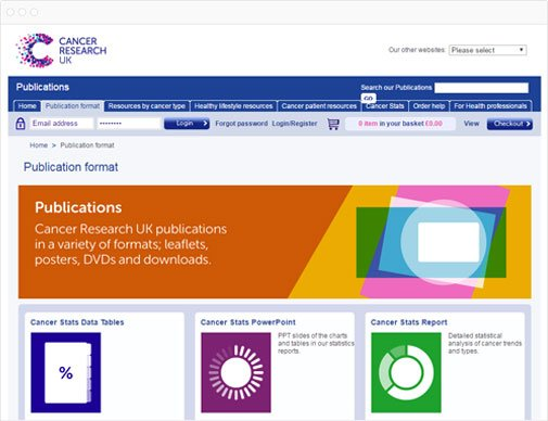 Cancer Research UK publications page