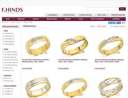 F.Hinds category page