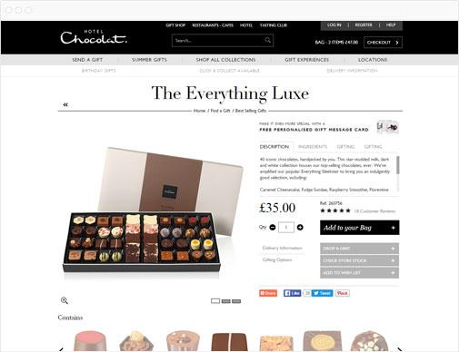 Hotel Chocolat product page