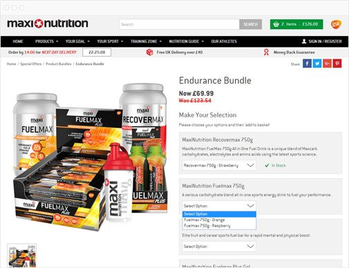 MaxiNutrition product bundles