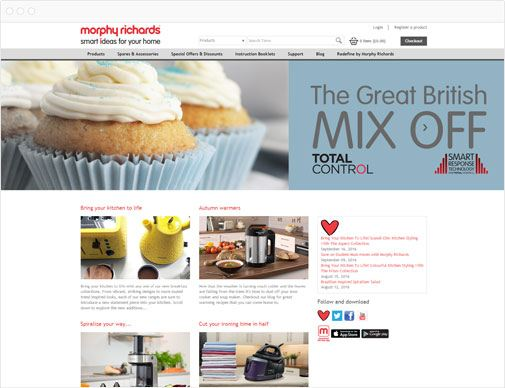 Morphy Richards homepage