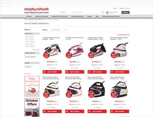 Morphy Richards category page