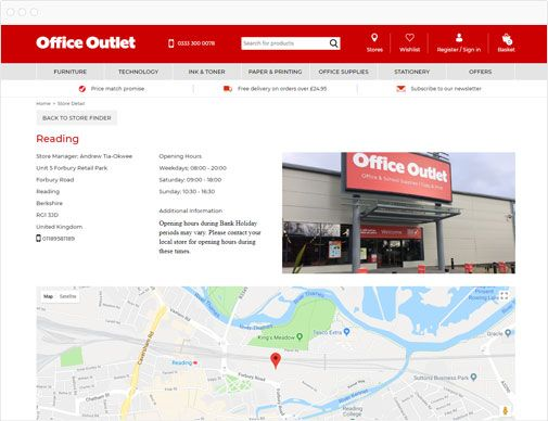 Office Outlet Store Locator