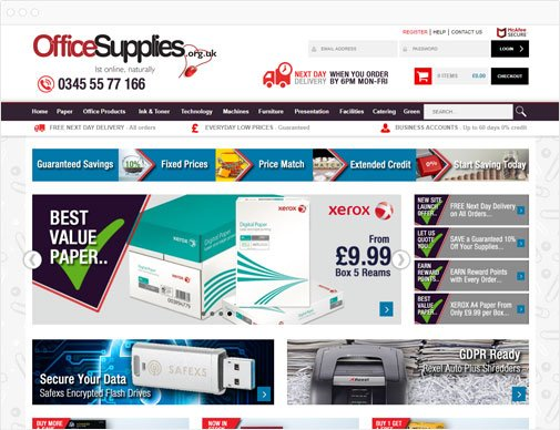 Office Supplies homepage