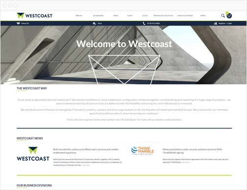 Westcoast homepage