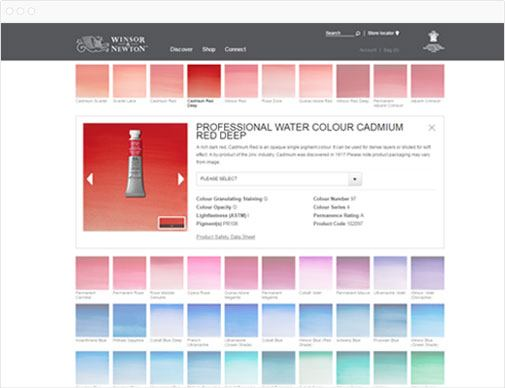 Winsor & Newton product page